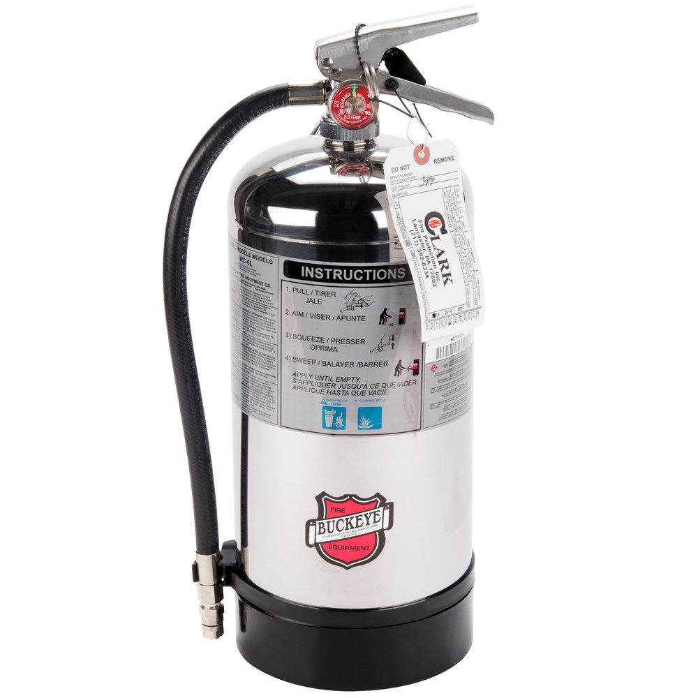 Buckeye Class K Wet Chemical Fire Extinguisher 6 Liter