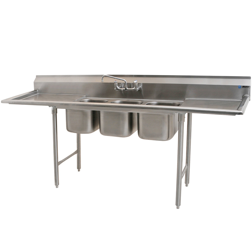 Group 310-10-3-24 Three Compartment Stainless Steel Commercial Sink ...