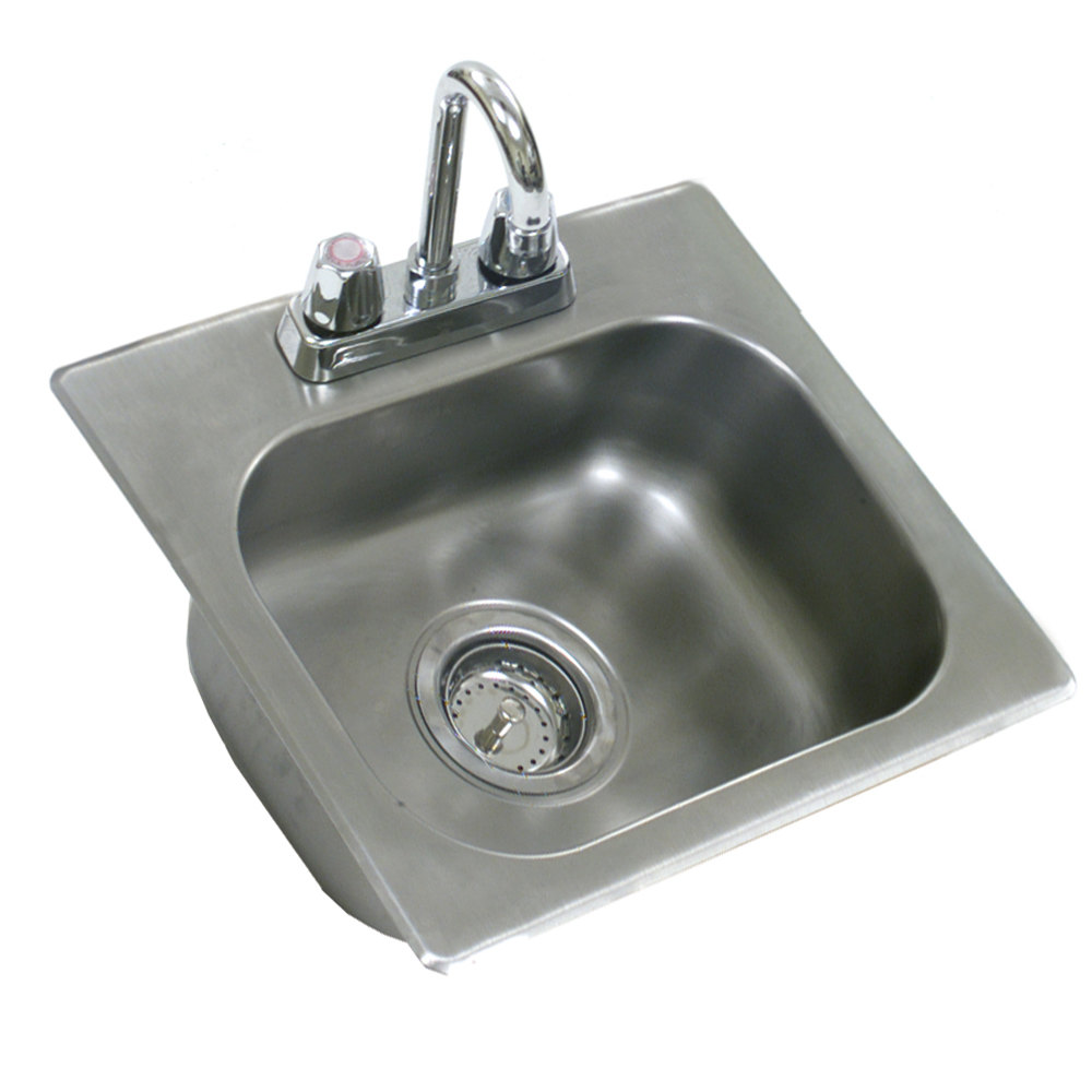 Eagle Sinks : Eagle Group SR14-10-9.5-1 One Compartment Stainless Steel Drop-In Sink ...