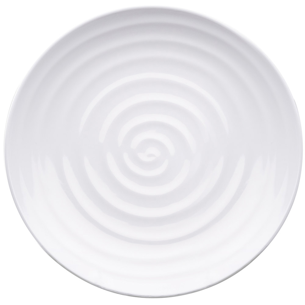 elite global solutions d12rg galaxy 12 inch round swirl white melamine plate - Melamine Dishes