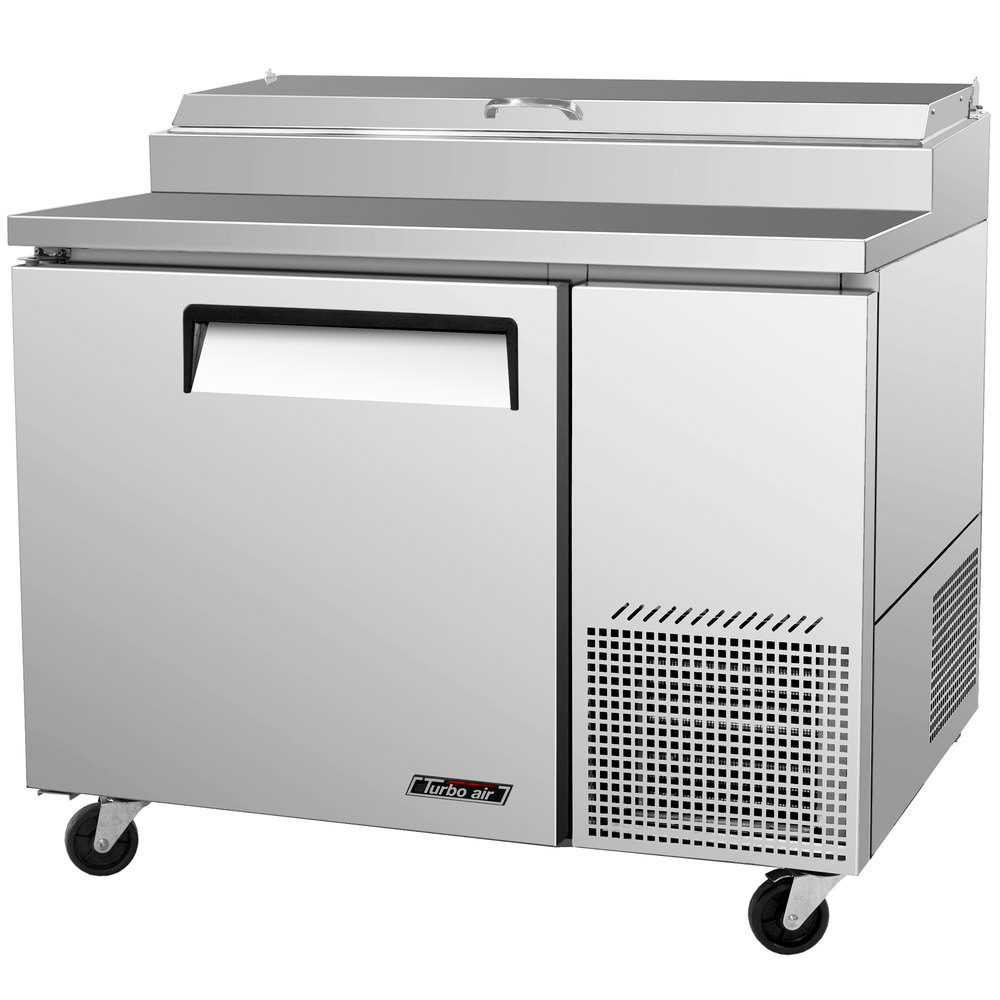"Turbo Air TPR-44SD 44"" One Door Pizza Prep Table"