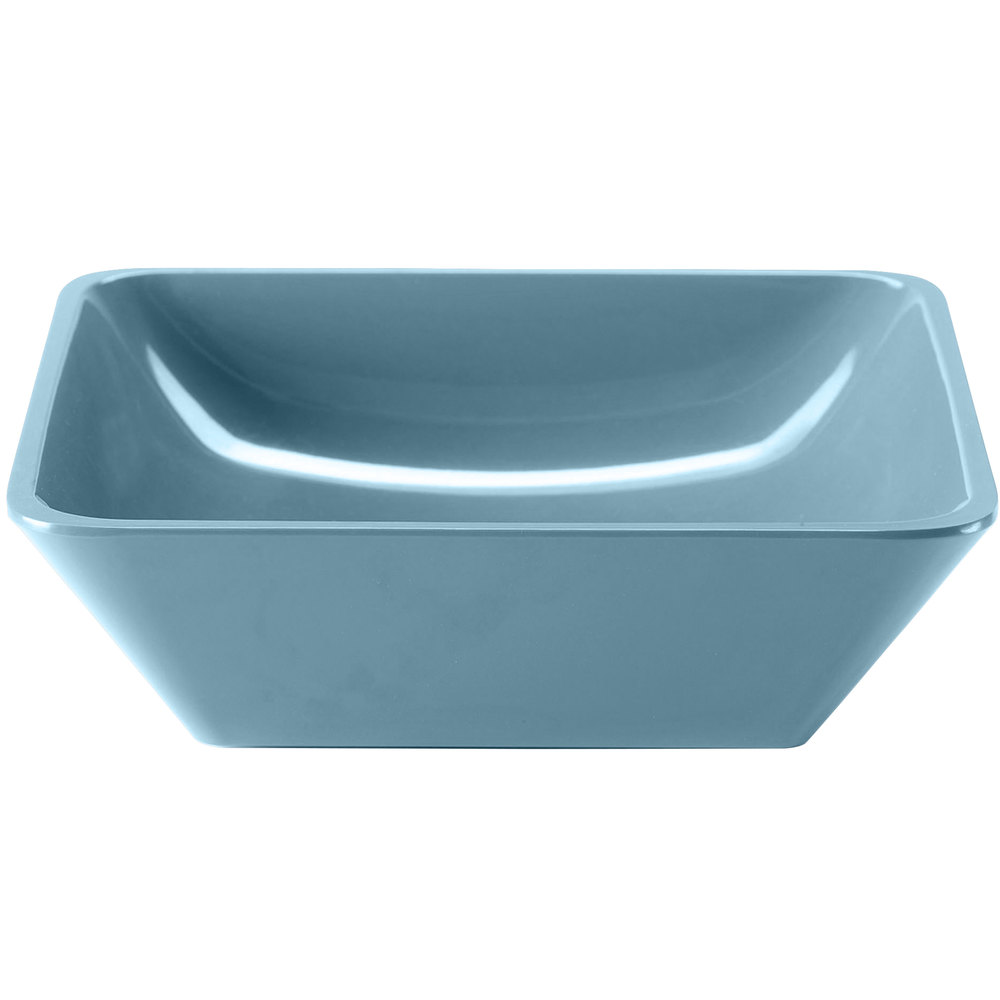 Elite Global Solutions M10SQ Belize Abyss 2.25 Qt. Square Melamine Bowl