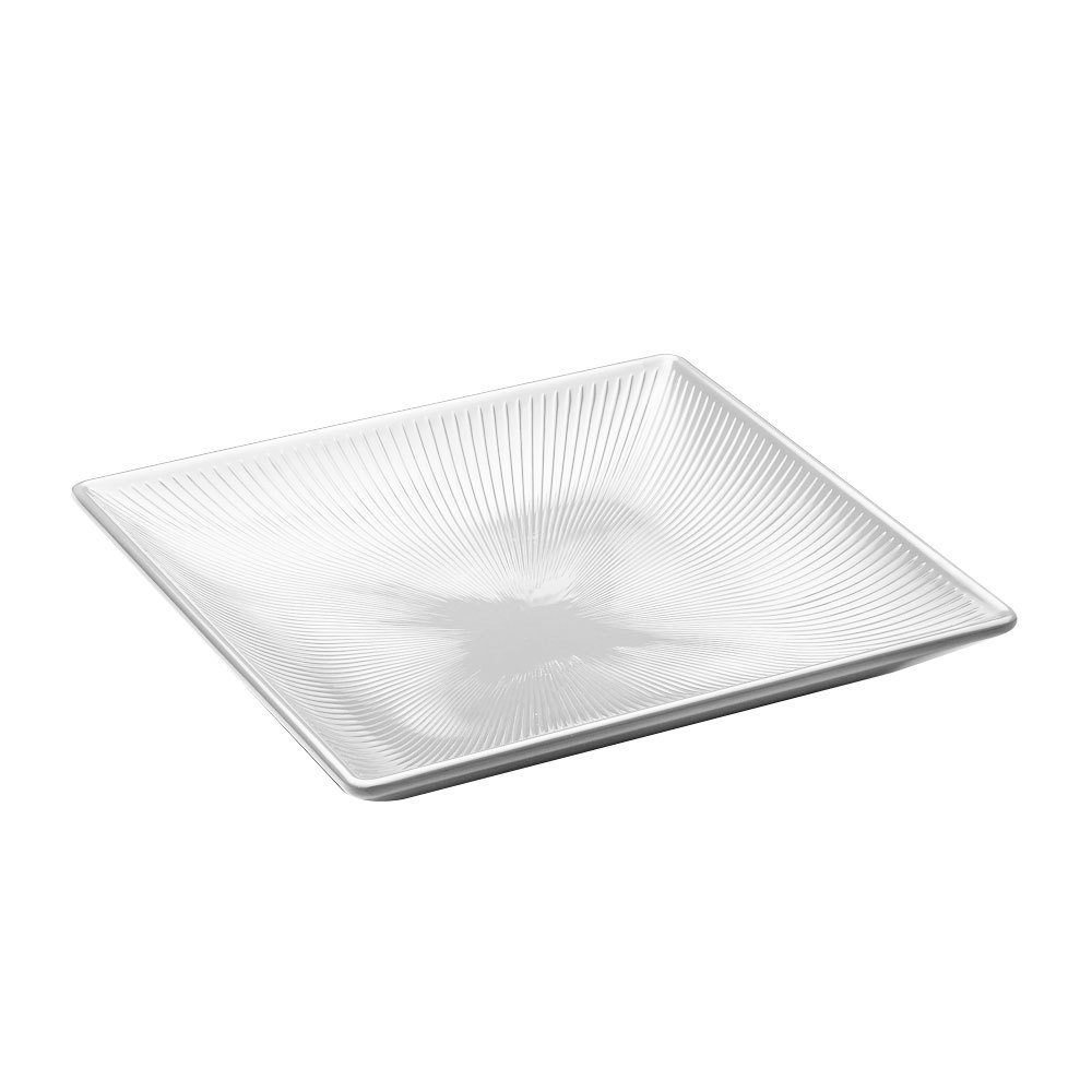 "Elite Global Solutions M11SQT Sunburst White 11"" Square Melamine Tray"