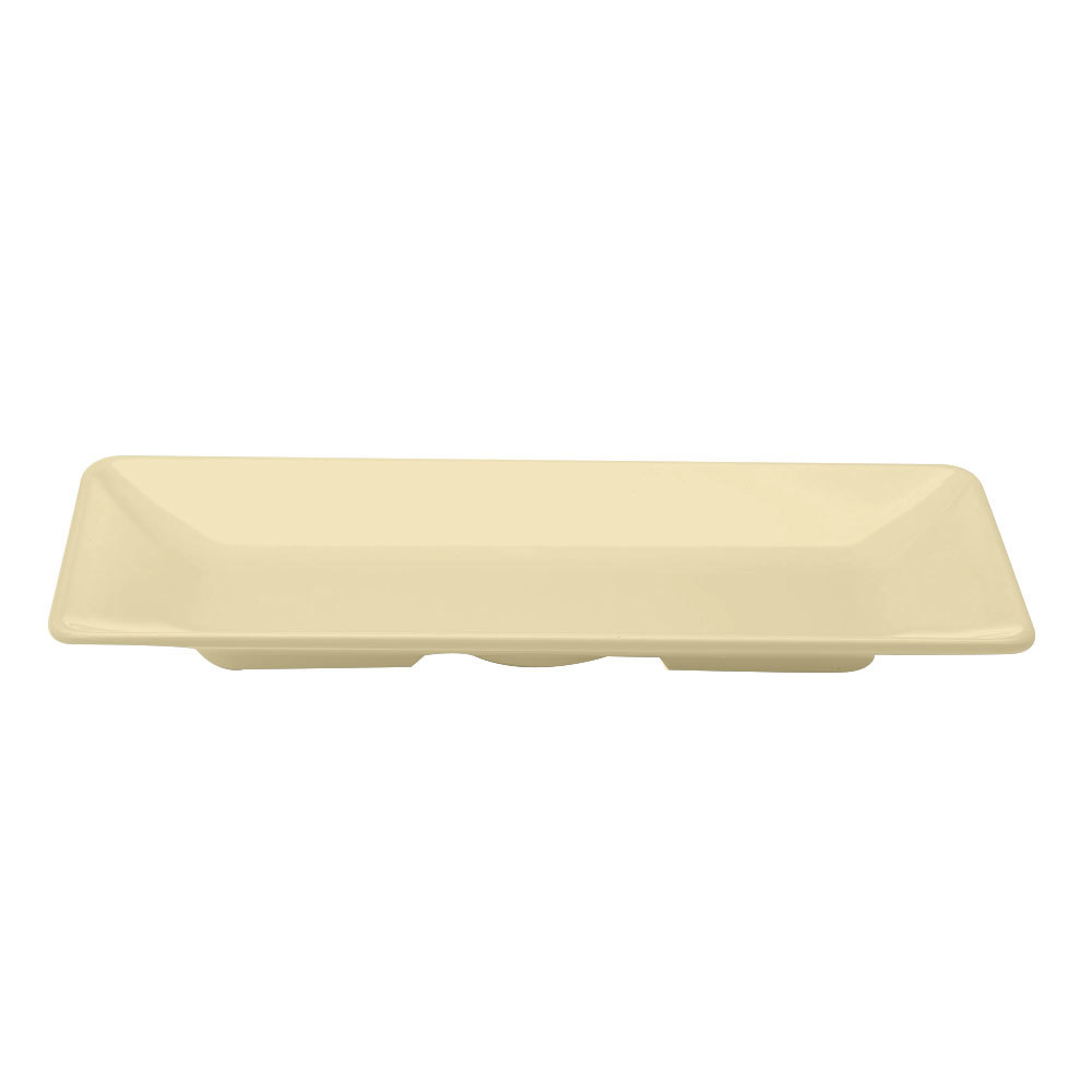 "Elite Global Solutions M168RC Symmetry Banana Crepe 16"" x 8"" Rectangular Melamine Platter"