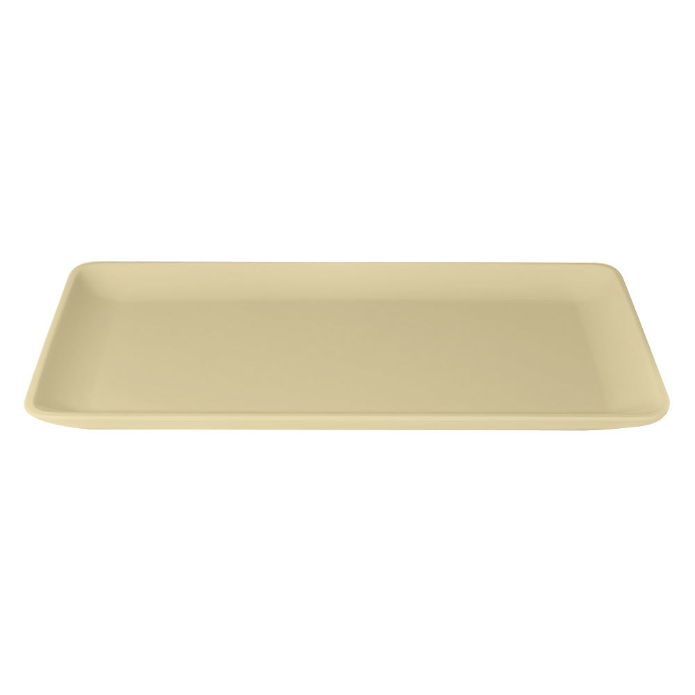"Elite Global Solutions M2011RC Belize Banana Crepe 20"" x 11"" Rectangular Melamine Tray"