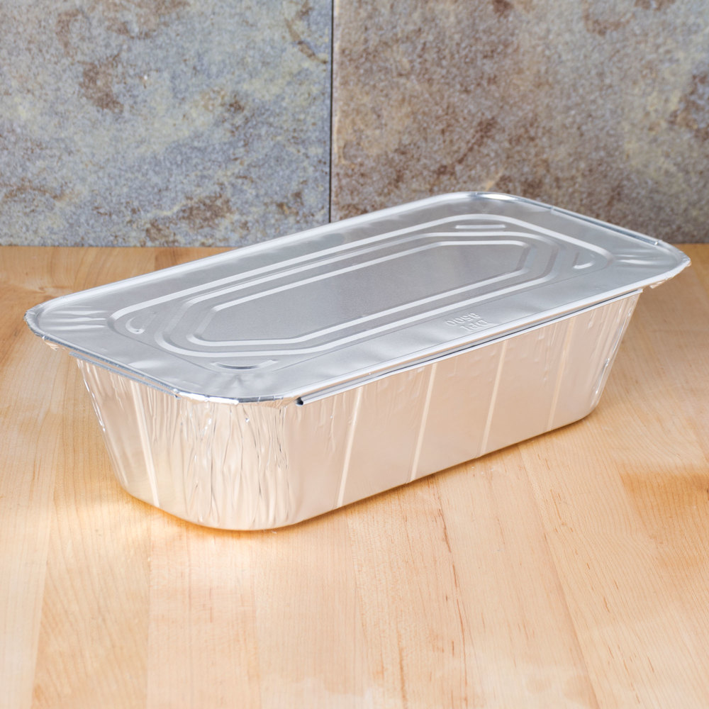 1/3 Size Foil Steam Table Pan Lid - 100 / Case