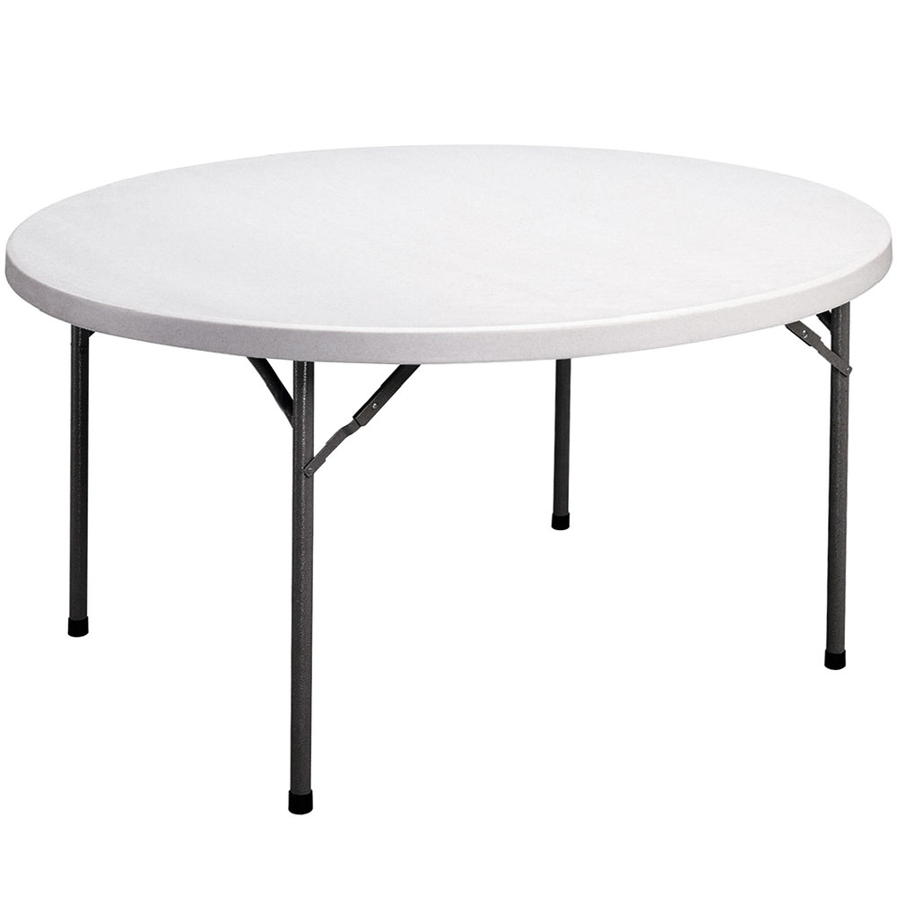 Correll Round Folding Table 60 Plastic Granite Gray Fs60r