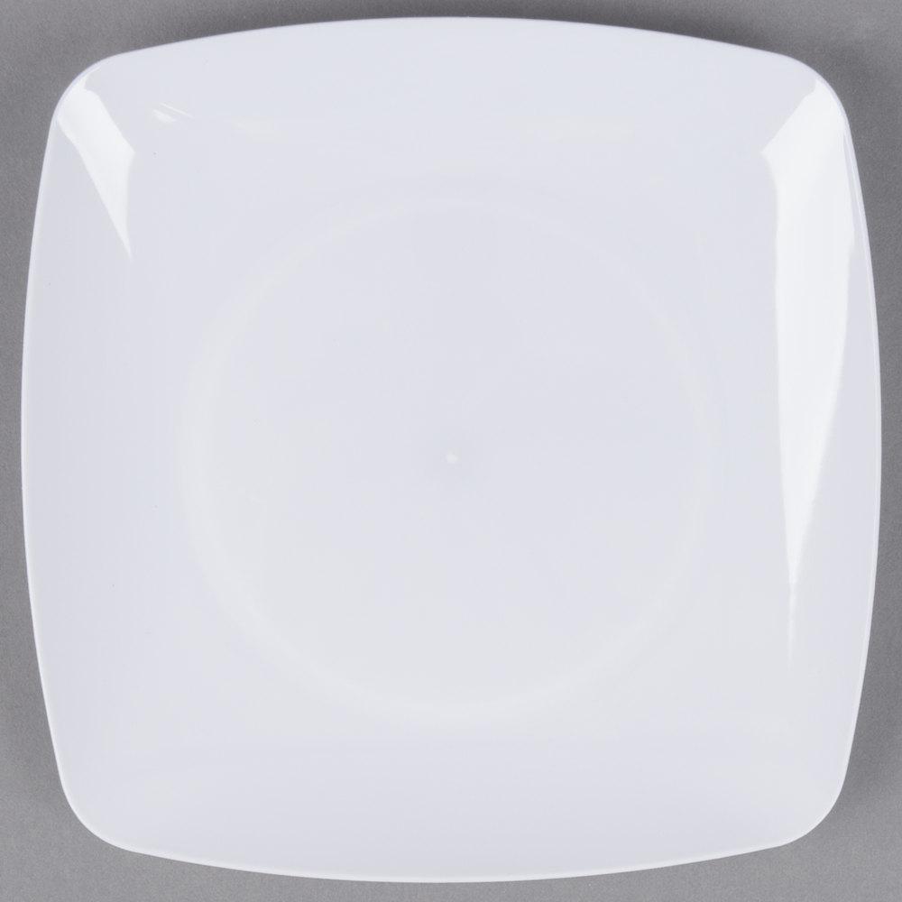 fineline renaissance wh   white plastic dessert plate  - fineline renaissance wh   white plastic dessert plate  case