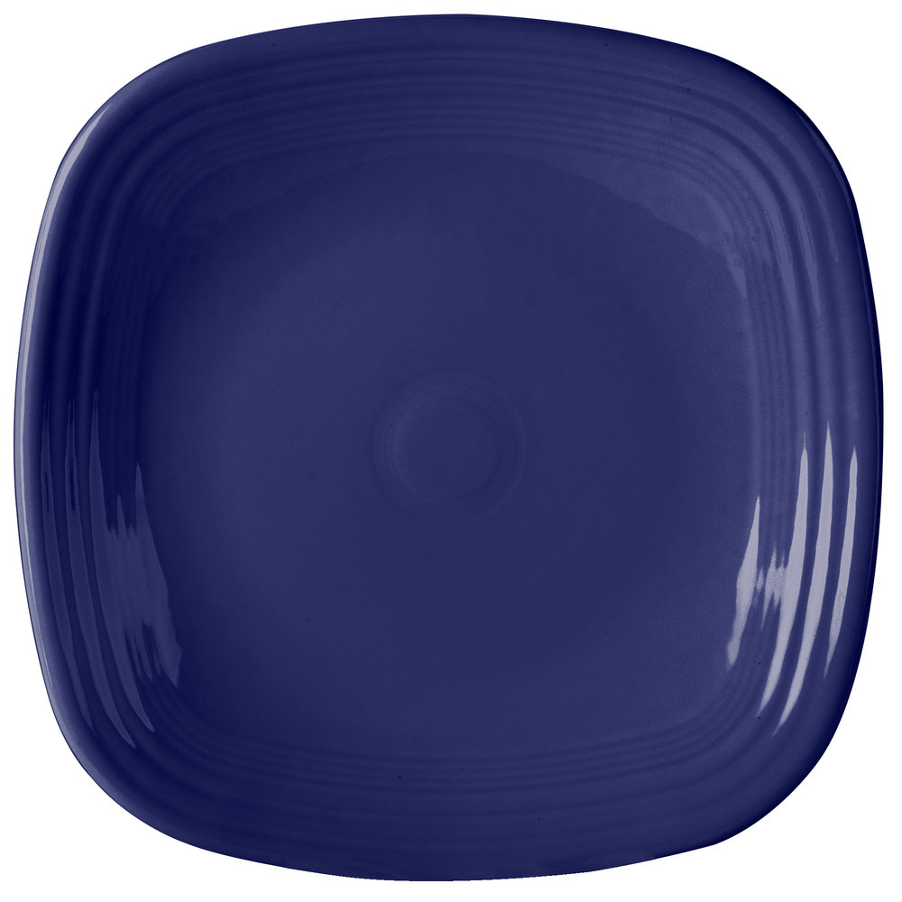 "Homer Laughlin 919105 Fiesta Cobalt Blue 10 3/4"" Square Plate - 12/Case"