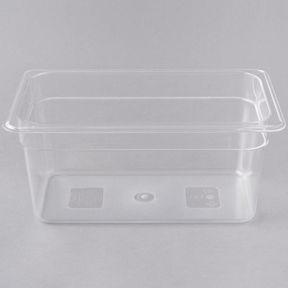 1 3 Size Clear Polycarbonate Food Pan 6 Quot Deep