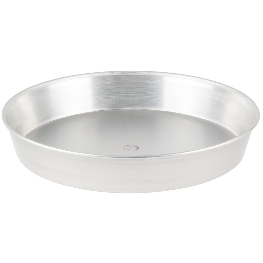 "American Metalcraft T90132 13"" x 2"" Tin-Plated Steel Pizza Pan"