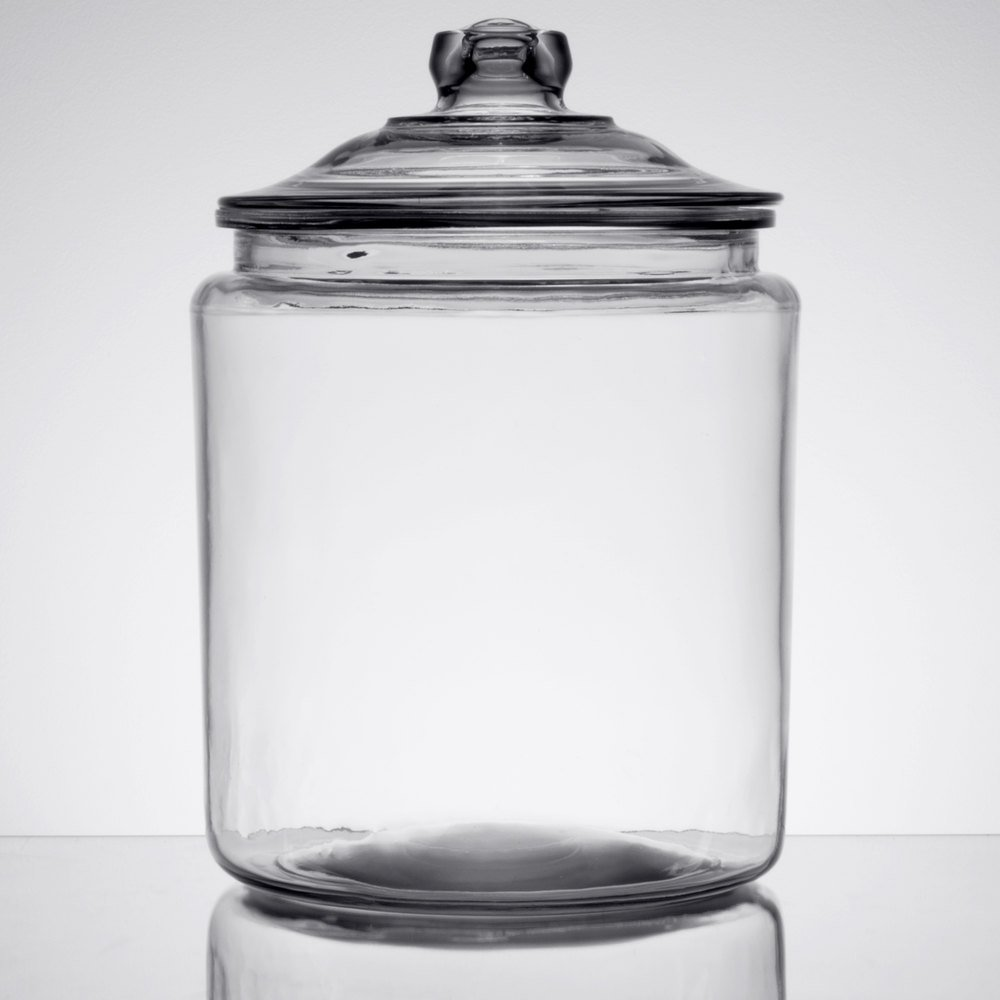 Gallon glass jars with lids