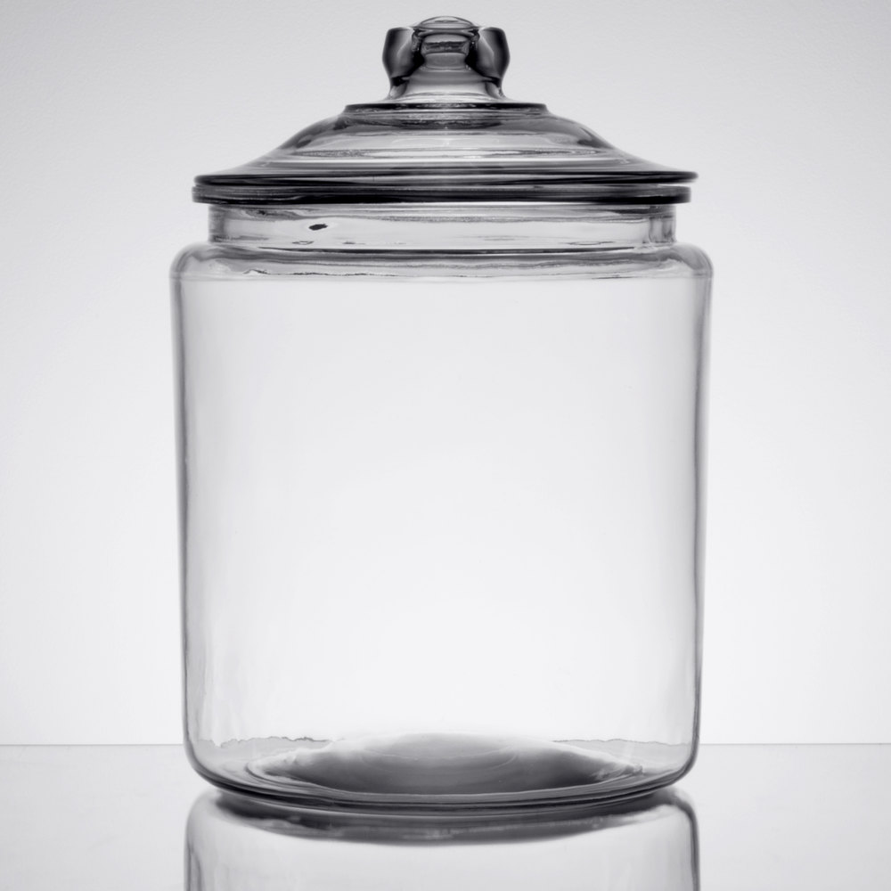 anchor hocking 69372mn 2 gallon glass jar with lid. Black Bedroom Furniture Sets. Home Design Ideas