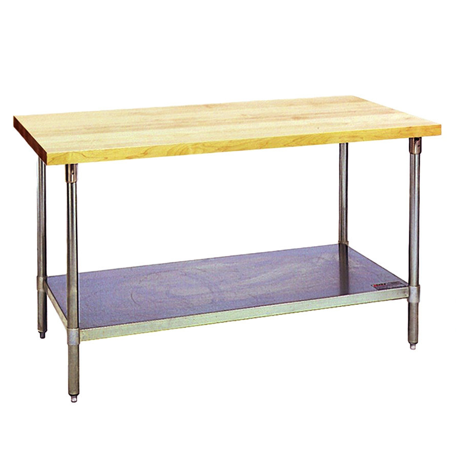 Eagle Group MT3048B Wood Top Work Table with Galvanized ...