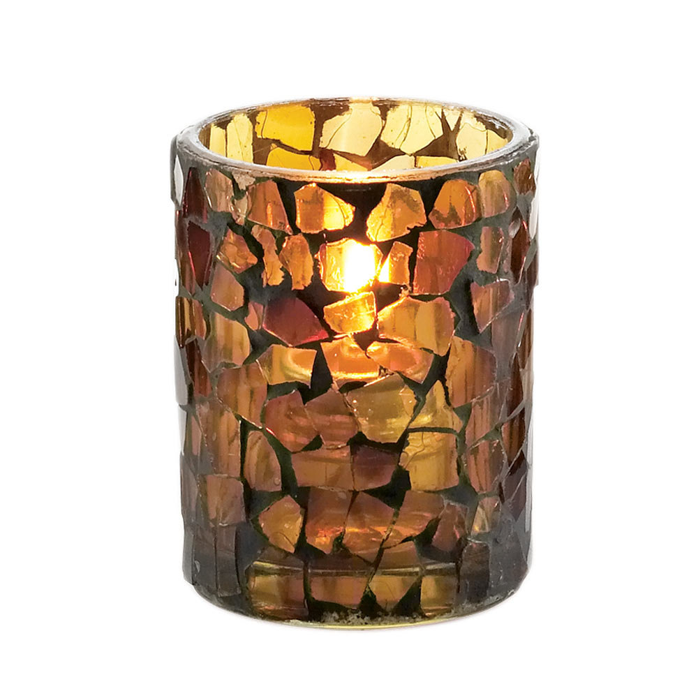 Sterno Products 80100 3 1 2 Quot Amber Mosaic Votive Liquid