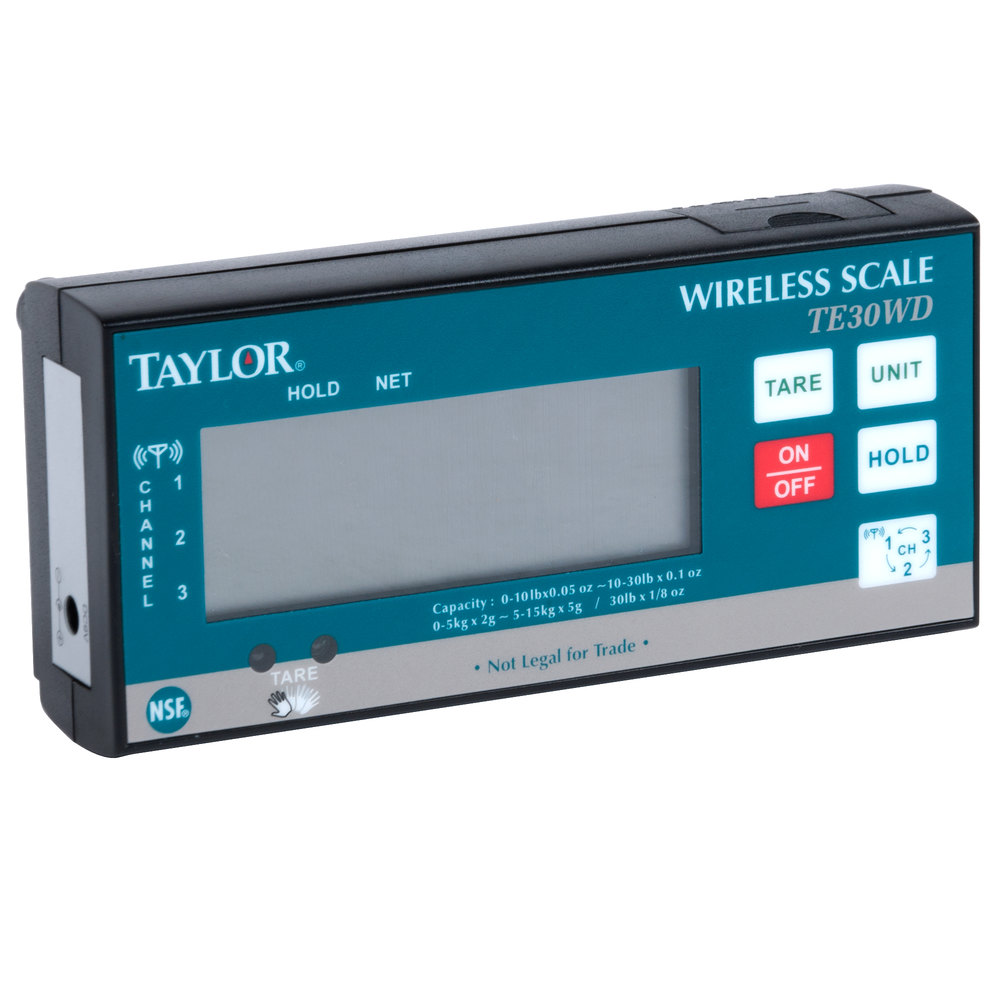 Taylor Te30wd 30 Lb Digital Portion Control Scale With