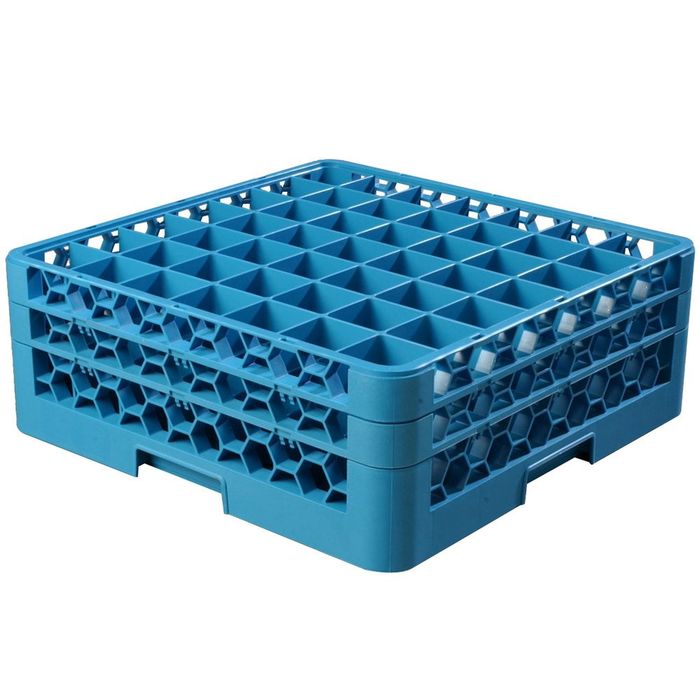 Carlisle Rg49 214 Opticlean 49 Compartment Glass Rack With