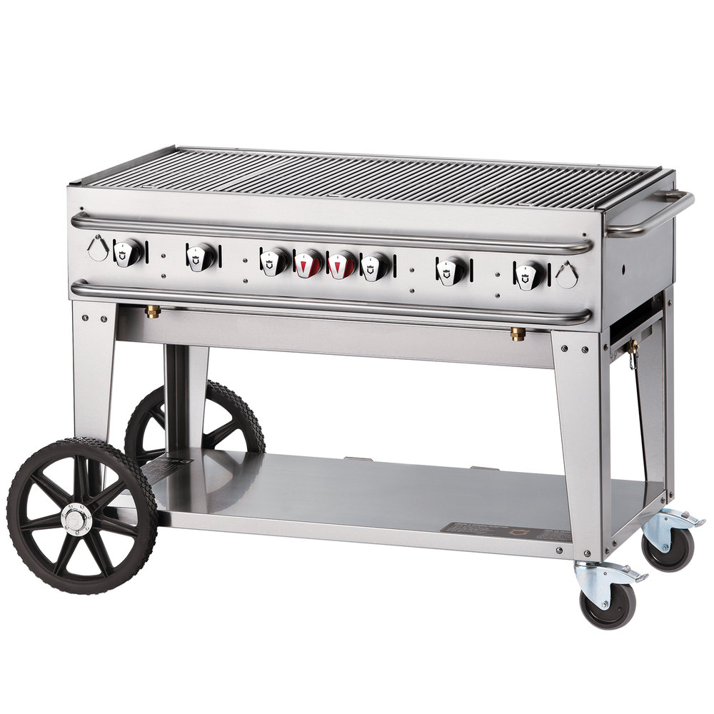 "Crown Verity RCB-48-LP 48"" Outdoor Rental Grill"
