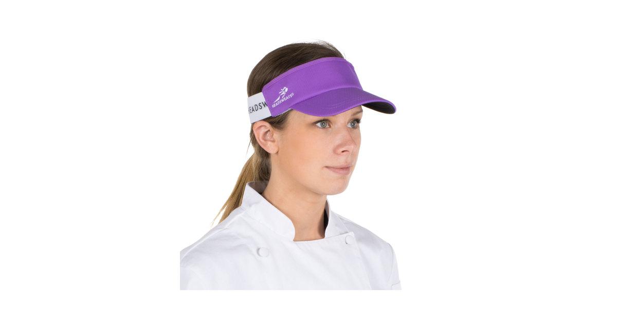 542e594047b38 Headsweats Purple Customizable CoolMax Chef Visor