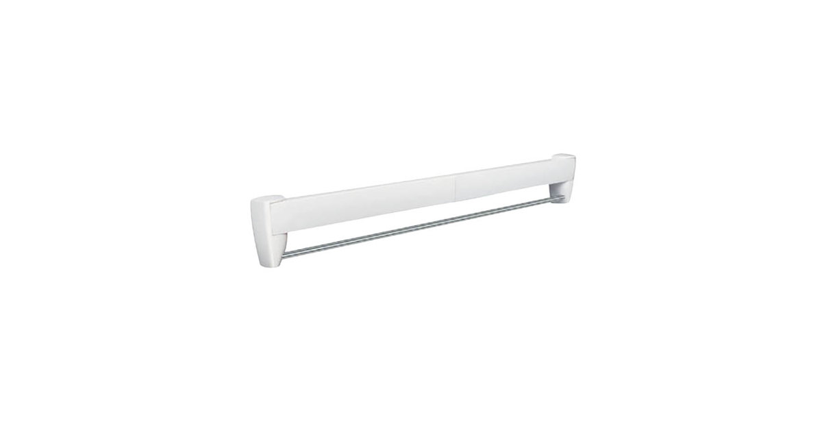 28 Inch White Retractable Wall Mount Drying Rack ...