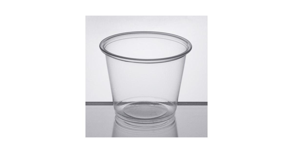 7b72db8040f Choice 5.5 oz. Clear Plastic Souffle Cup / Portion Cup - 2500/Case
