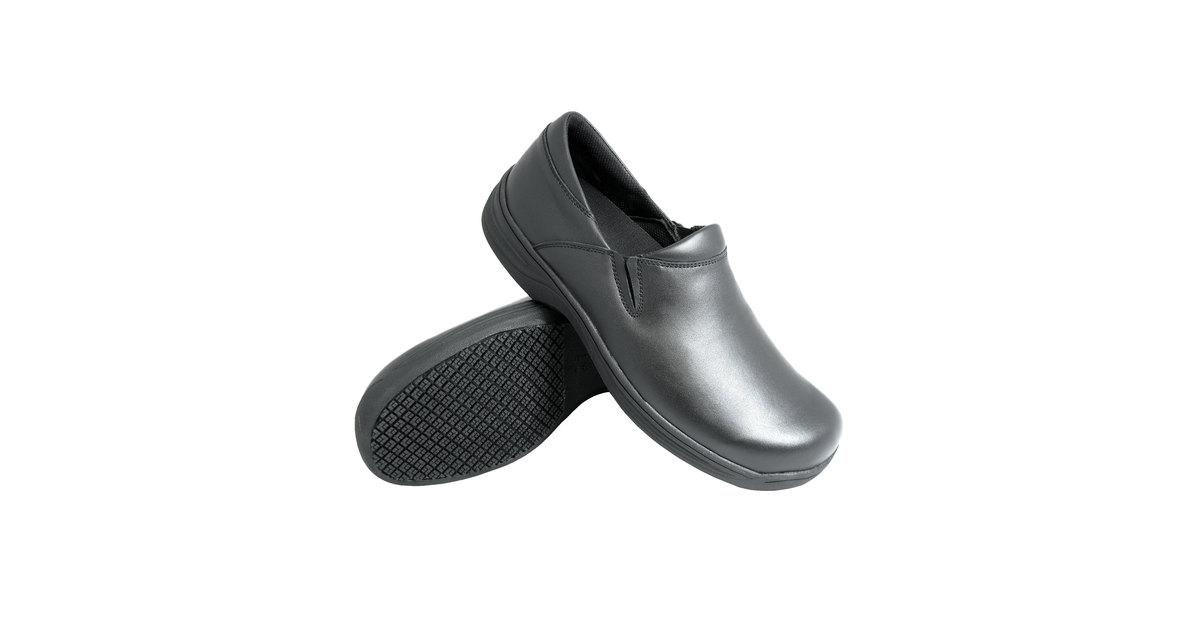 a5254e67ea6b Genuine Grip 470 Women s Size 6.5 Wide Width Black Ultra Light Non Slip  Slip-On Leather Shoe