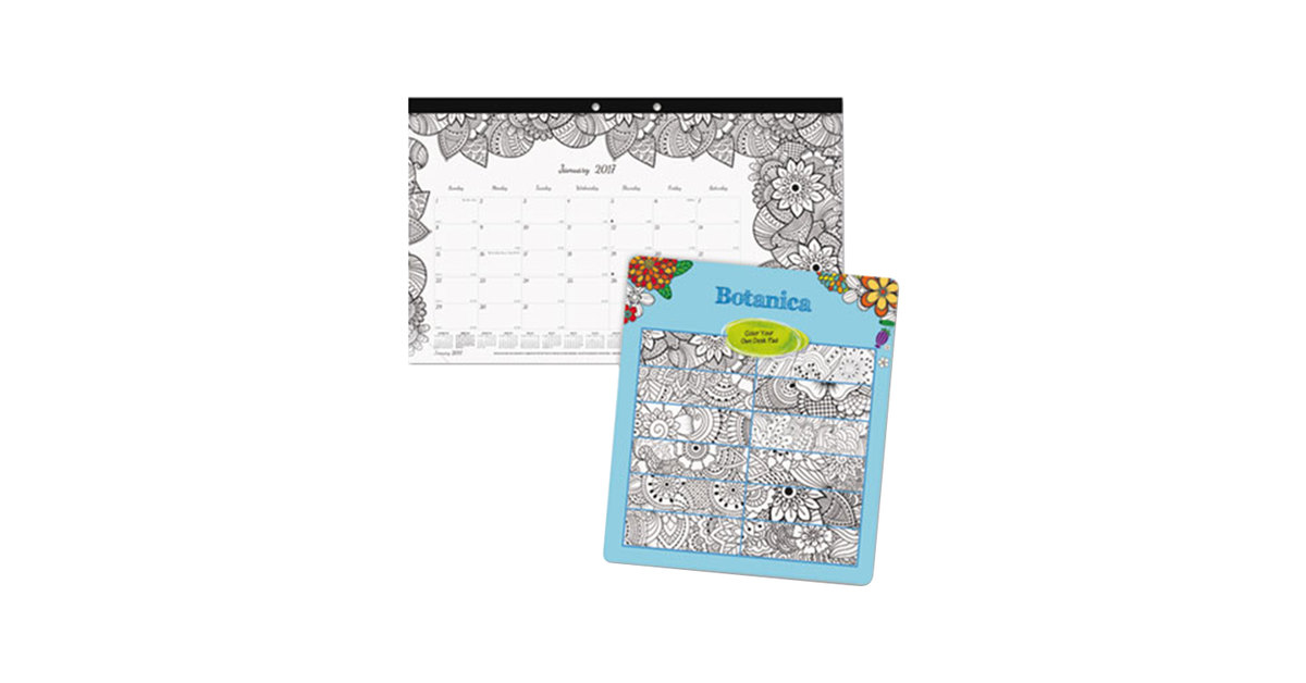 Calendar January 2020 Coloring Pages Botanical Monthly January 2020   December 2020 Desk Pad