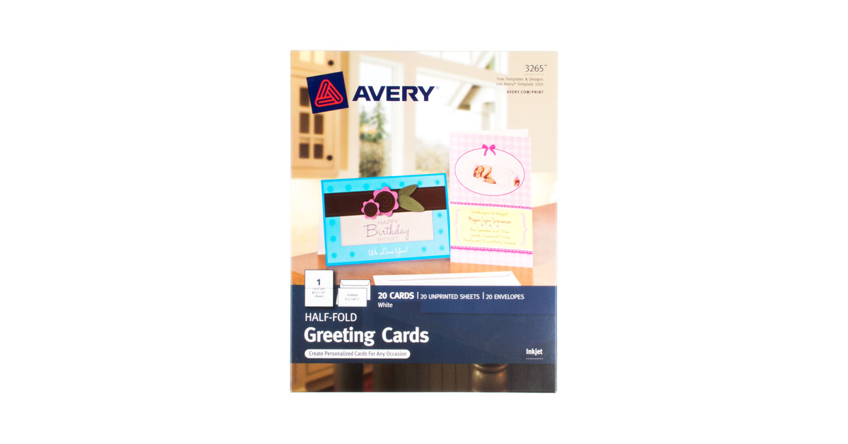 Avery 3265 5 12 x 8 12 printable half fold greeting cards with avery 3265 5 12 x 8 12 printable half fold greeting cards with envelopes 20pack m4hsunfo