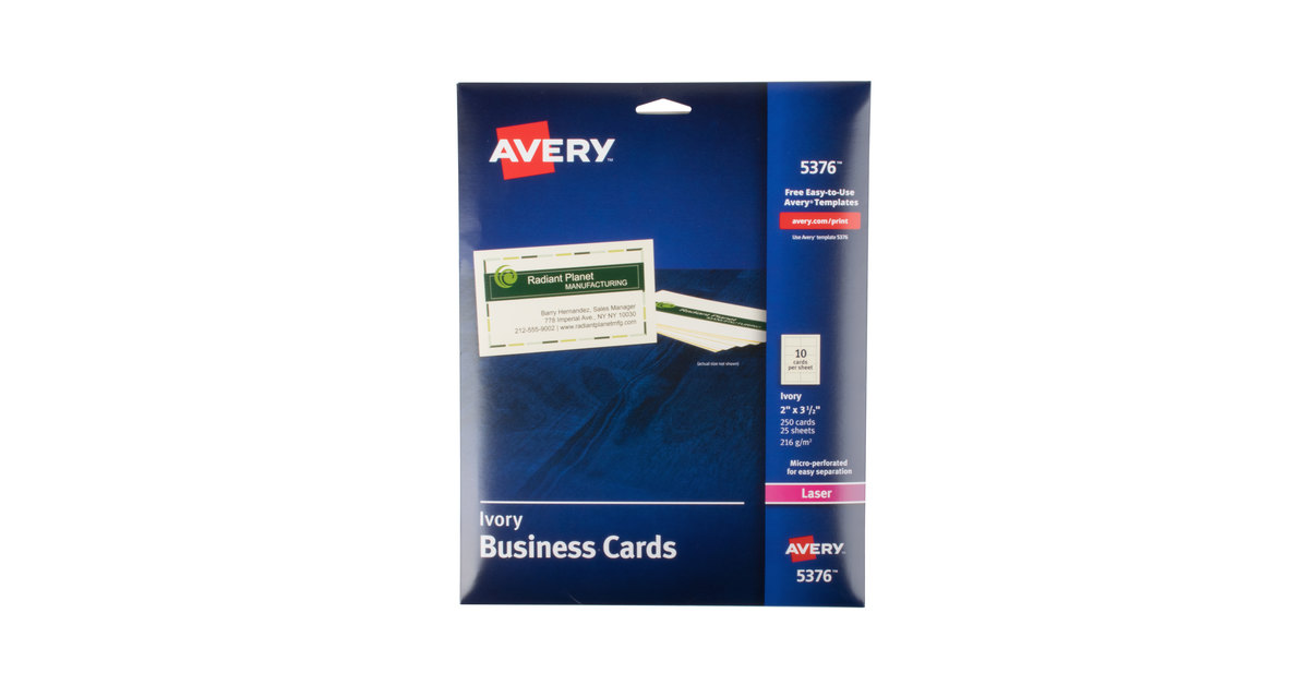 Avery 8871 Business Card Template