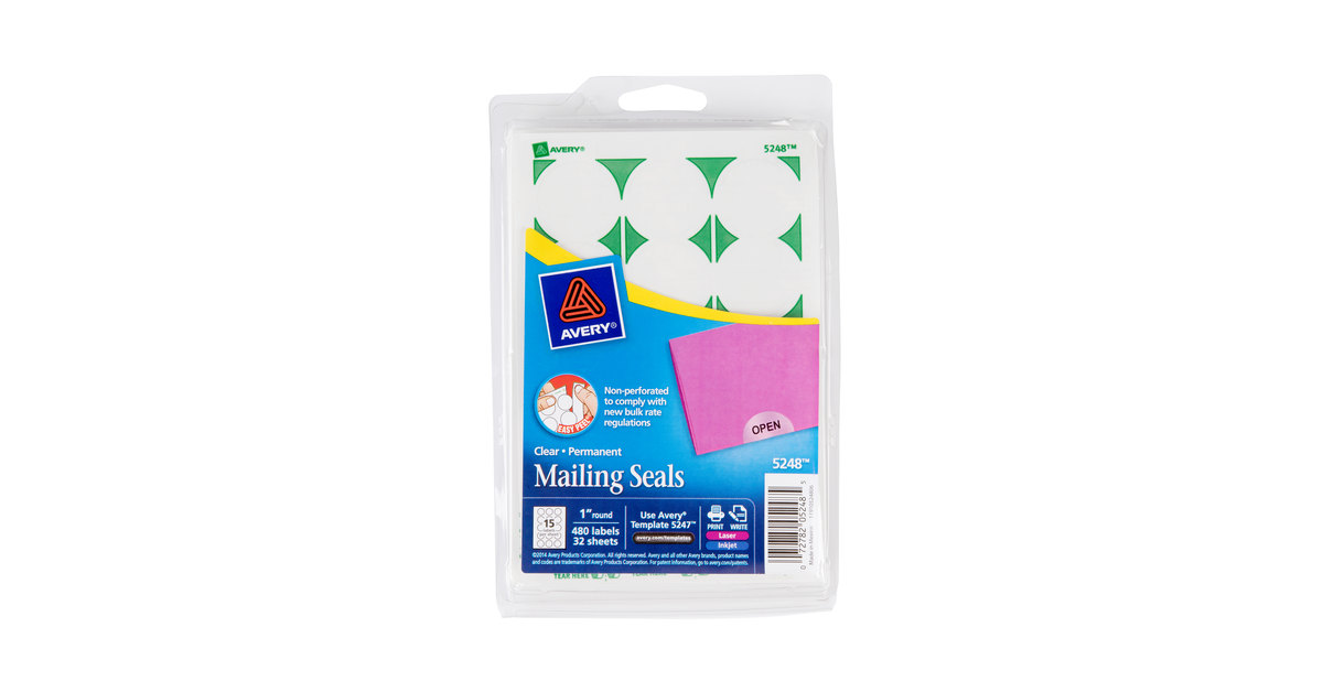 Avery 5248 1 clear round write on printable mailing seals 480 avery 5248 1 clear round write on printable mailing seals 480pack pronofoot35fo Gallery