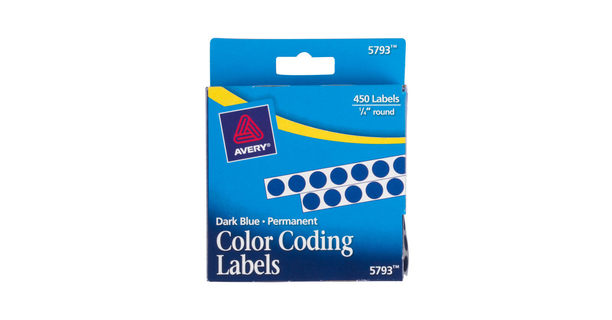 avery 05793 14 blue round permanent write on color coding labels 450pack - Avery Colored Labels