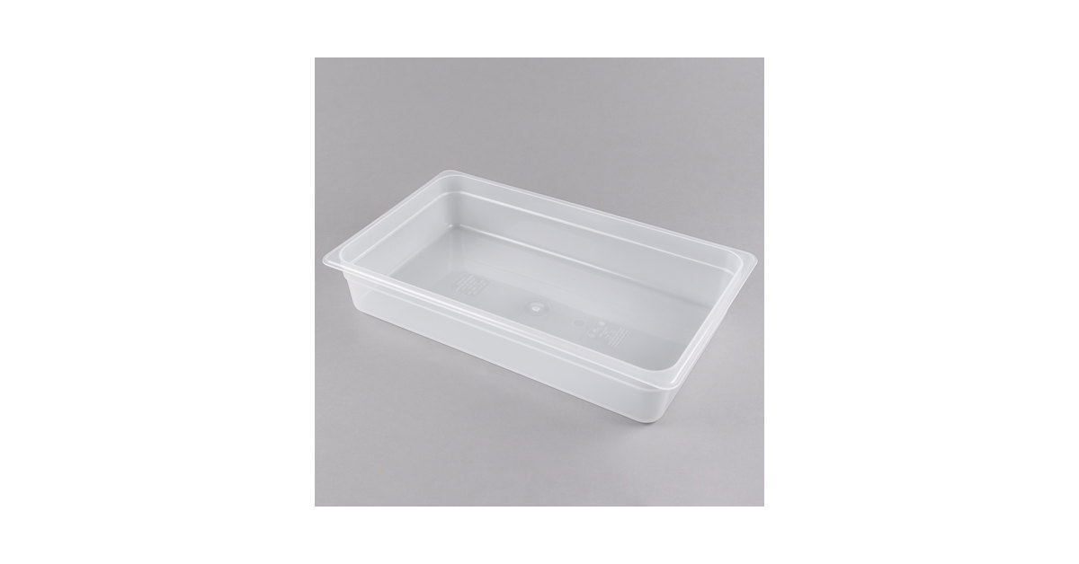 "Cambro 14PP190 Full Size Translucent Food Pan - 4"" Deep"