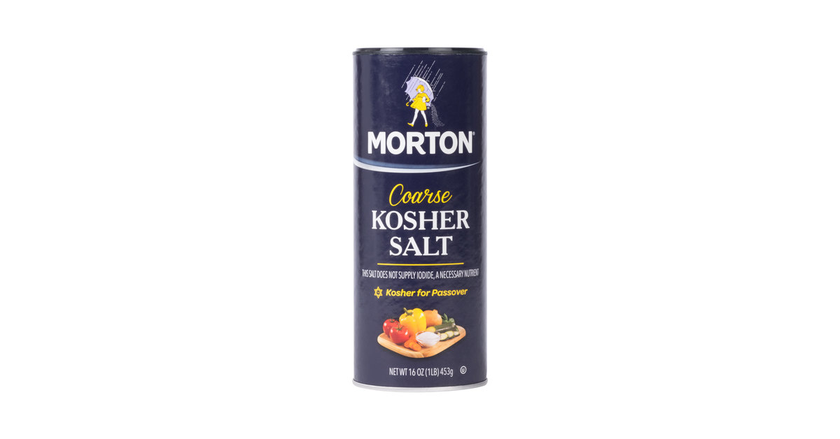 Morton 16 oz  Coarse Kosher Salt