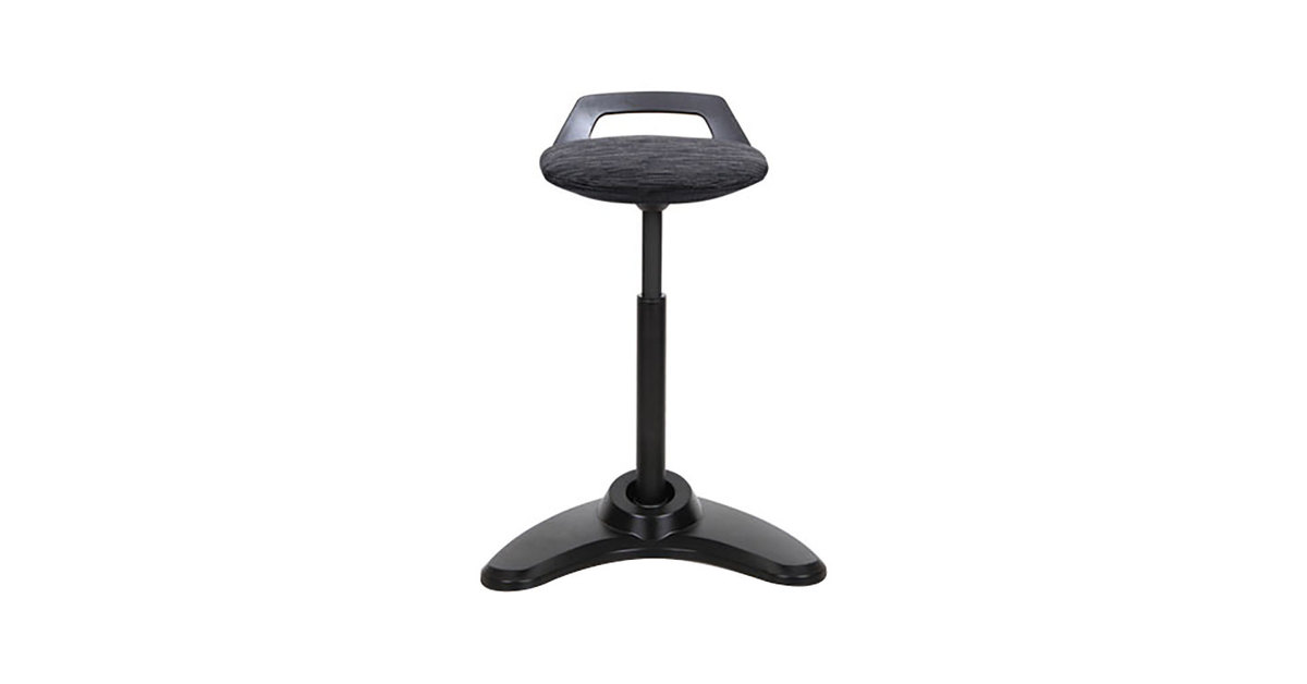Phenomenal Alera Aleae35Psbk Black Sit To Stand Perch Stool With Black Base Cjindustries Chair Design For Home Cjindustriesco