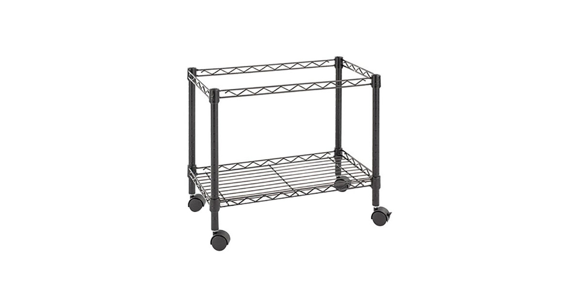 rolling file cart with locking lid mobile office depot black single tier