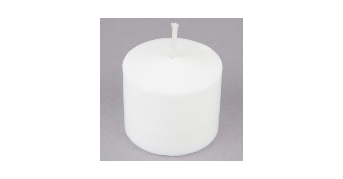 955a0c08a1 Leola Candle 10 Hour White Votive Candle - 288/Case