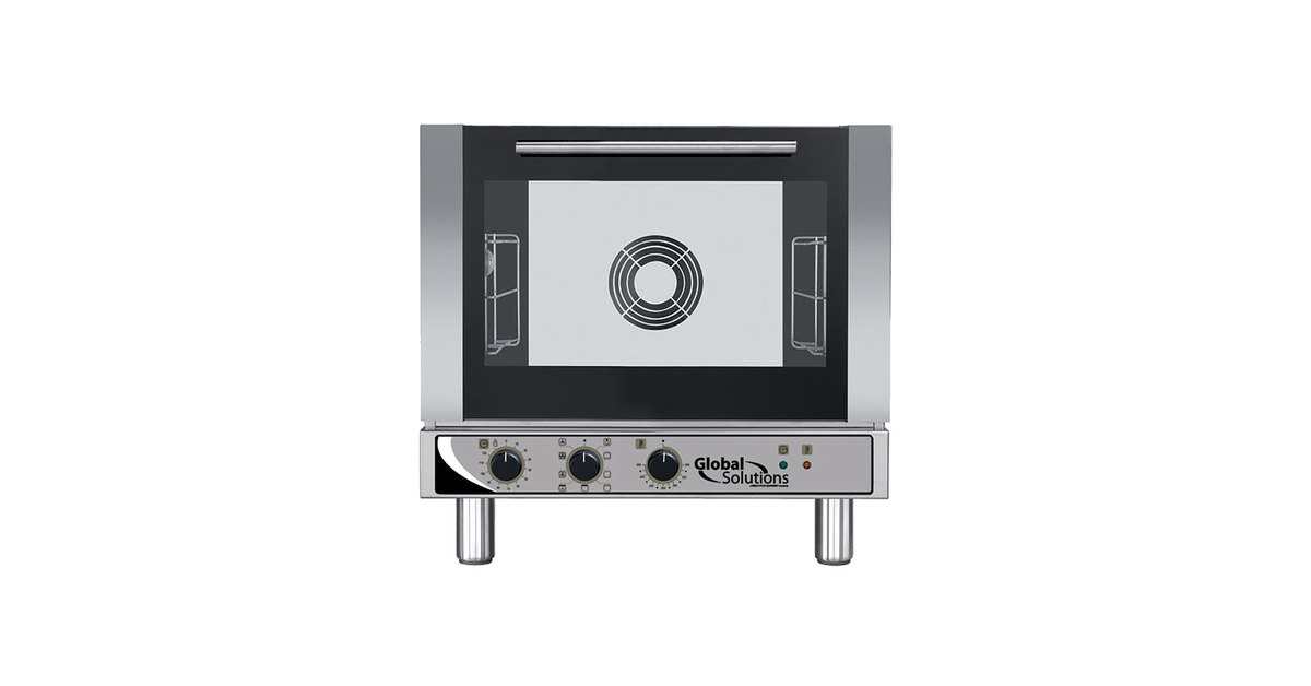 Global Solutions By Nemco Gs1115 Half Size 3 Shelf Countertop Convection Oven With Broiler 208