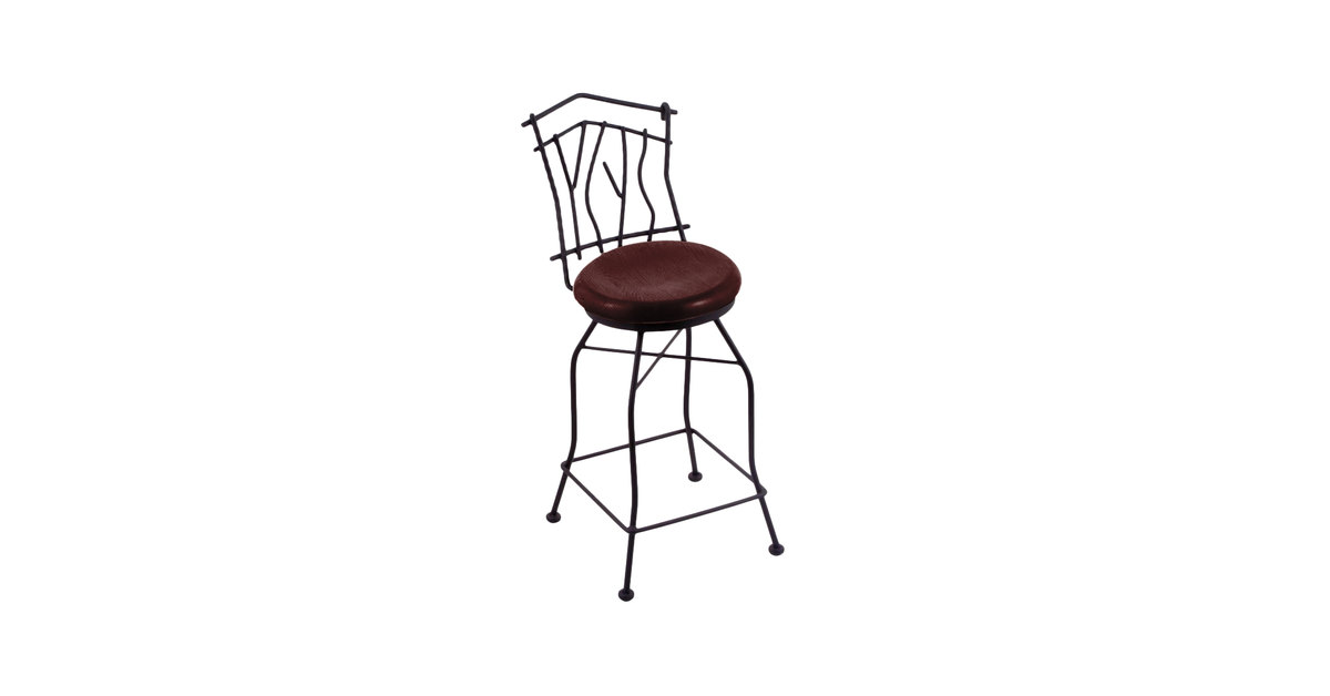 Surprising Holland Bar Stool 301025Bwdcoak Black Wrinkle Steel Counter Height Swivel Stool With Back And Dark Cherry Oak Wood Seat Squirreltailoven Fun Painted Chair Ideas Images Squirreltailovenorg