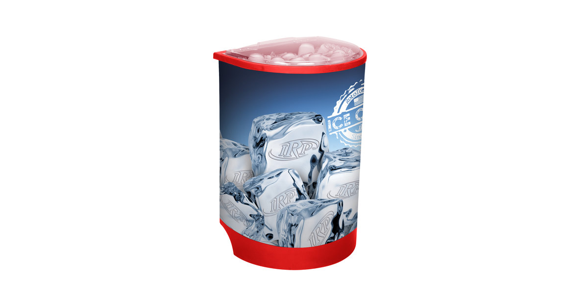 Irp Red Iceberg 500 60 Qt Insulated Portable Beverage Cooler Merchandiser With Lid Drain And Semicircular Design