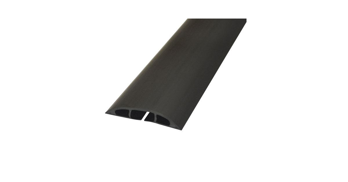 """D-Line Light Duty Floor Cable Cover 72/"""" x 2 1//2/"""" x 1//2/"""" Black CC1"""