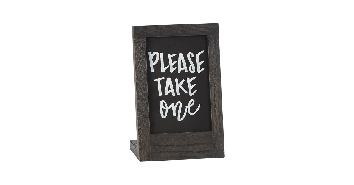 Cal Mil 3818 46 87 Cinderwood 4 X 6 Chalkboard Stand With Black Chalkboard