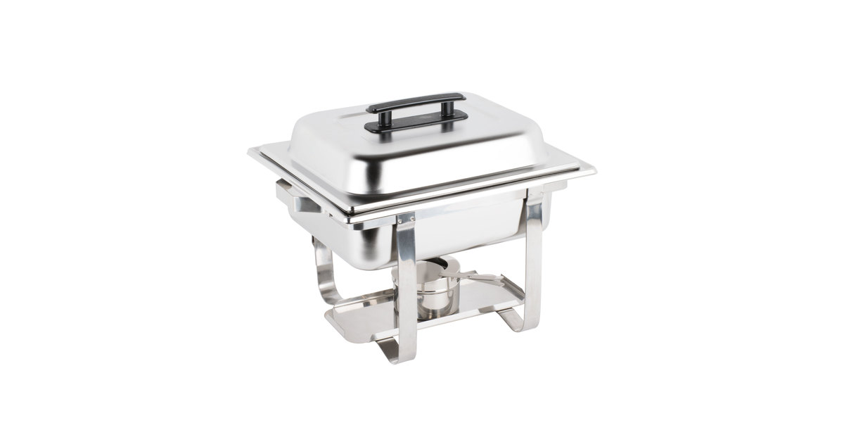 b220924b7 4 Qt. Chafing Dish | Half Size Stainless 4 Quart Chafing Dish