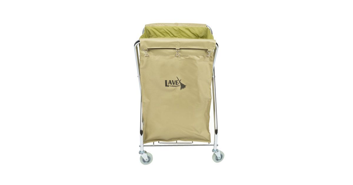 f71ca397cb47 Lavex Lodging Commercial Laundry Cart/Trash Cart, 10 Bushel Folding Metal  Frame and Canvas Bag