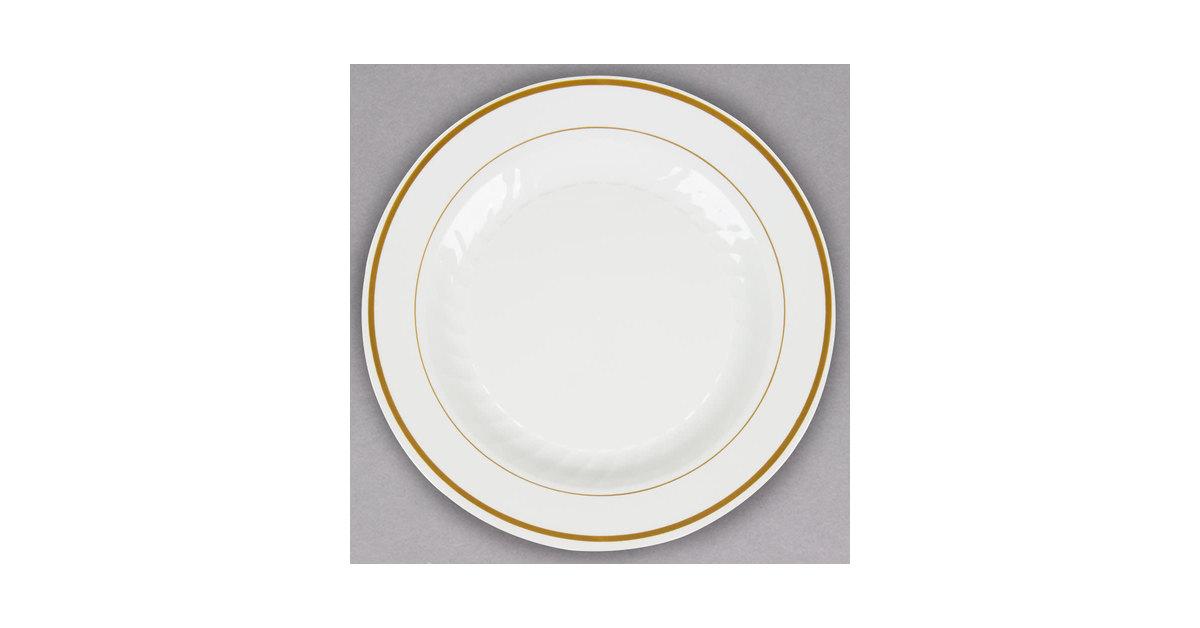 Premium Plastic Plates. Masterpiece Premium Quality Heavyweight ...  sc 1 st  10000+ Best Deskripsi Plate 2018 & Masterpiece Premium Plastic Heavyweight Plates Gold Trim - Best ...