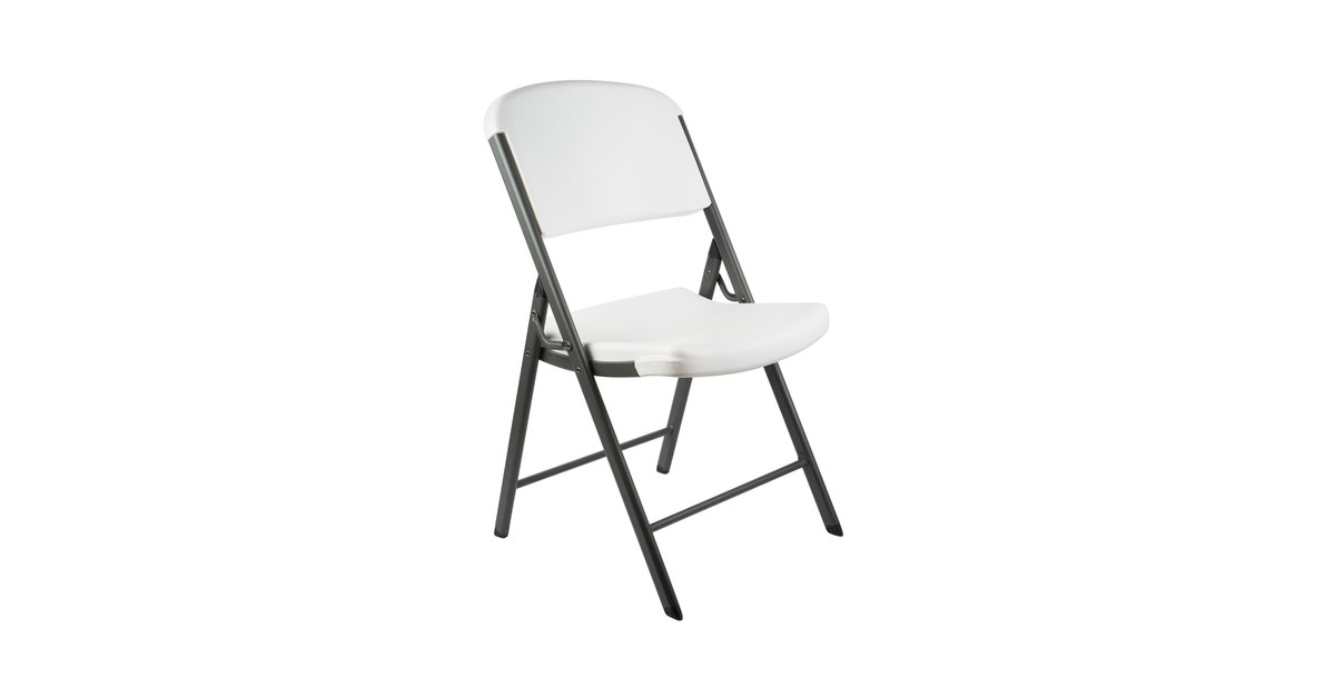 cf4f38aad44ef Lifetime 2802 White Contoured Folding Chair