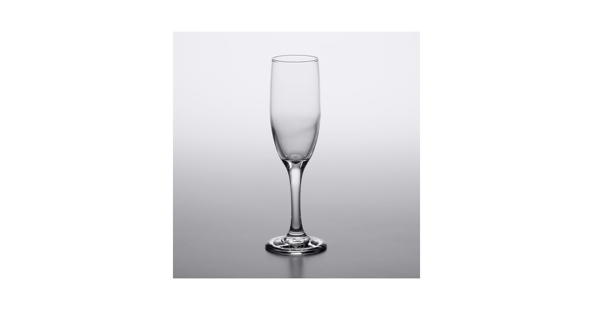 Flute Glasses Acopa 6 Oz Champagne Glasses 12 Case