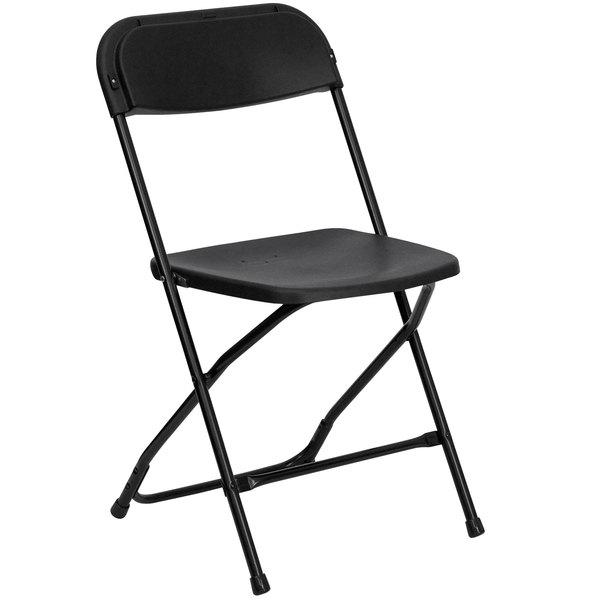 Flash Furniture LE L 3 BK GG Black Folding Chair ...