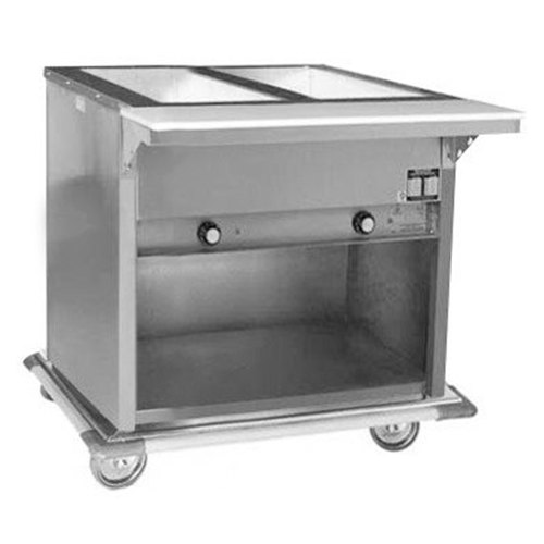 120V Eagle Group PHT2OB Portable Electric Hot Food Table with Enclosed Base - Two Pan - Open Well