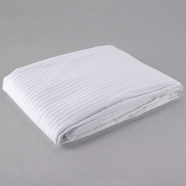 Hotel Duvet Cover 250 Thread Count Cotton Poly White Tone On Full 86 X 93