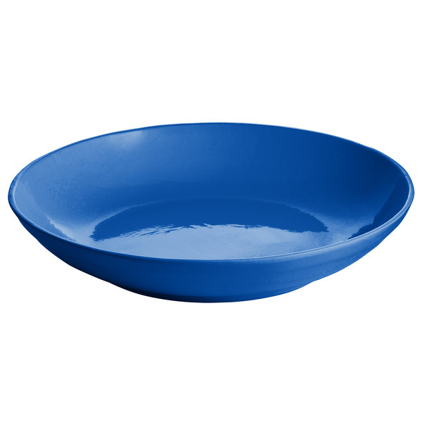 Tablecraft CW3150CBL 3.5 Qt. Cobalt Blue Cast Aluminum Pasta Bowl